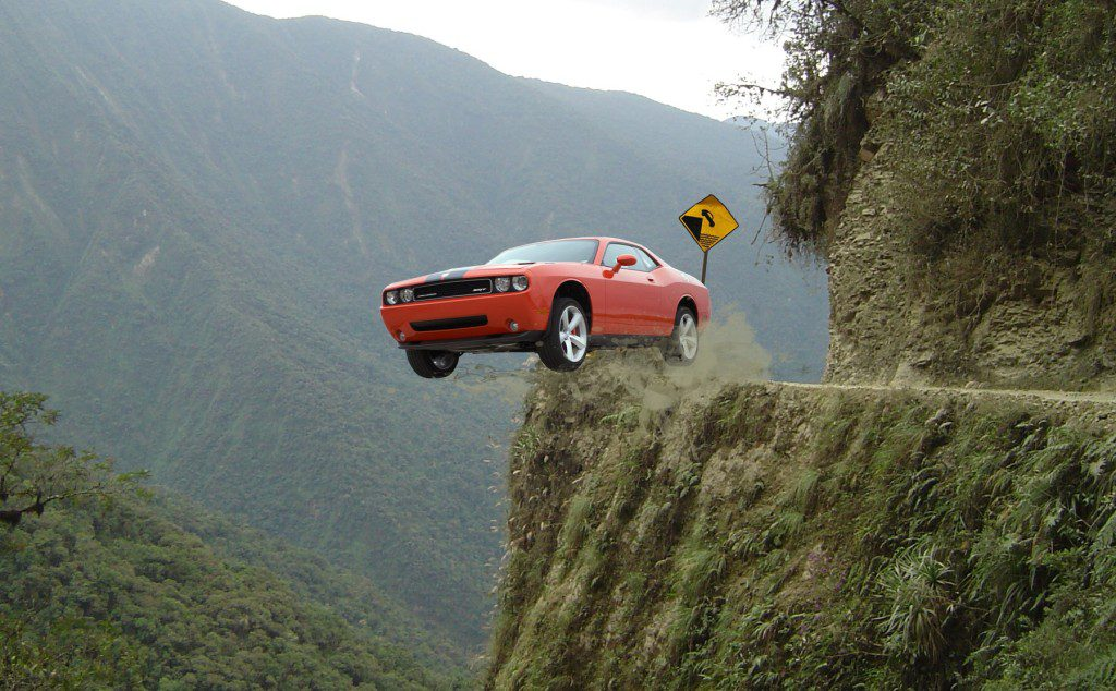 car-over-cliff